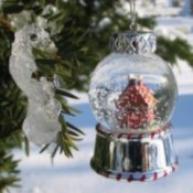 Homemade snow globe.
