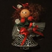Homemade Christmas Tree Decorations, Christmas angel.