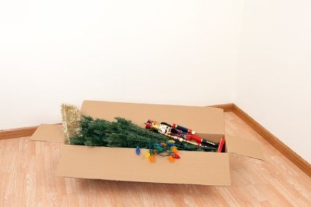 Artificial Christmas Tree and Decorations in a Box