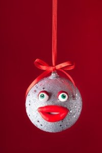 Homemade Face Christmas Ornament