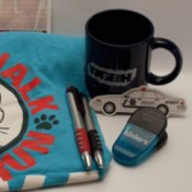 Various promotional items.