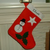 Photo of a felt Christmas stocking