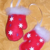 Photo of felt mittens.