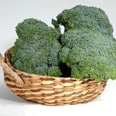 Beautiful broccoli in basket