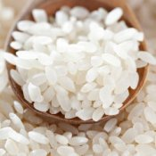 Freezing Rice, Wooden Spoon Scooping Rice