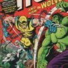 A comic book cover featuring Wolverine, with the Incredible Hulk.