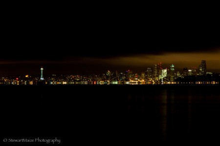 Seattle at Night as Viewed from Across Puget Sound