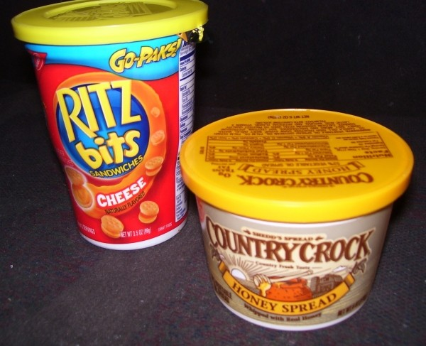 Ritz Bitz and Country Crock margarin plastic containers