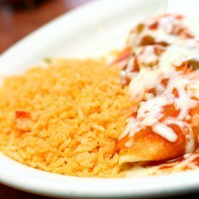 Side of Spanish rice.