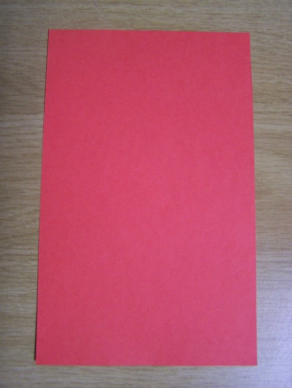 Piece of red paper