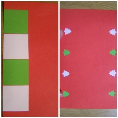 Red and Green paper for craft