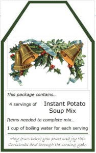 Soup package tag.