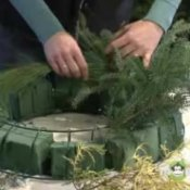 Making a Holiday Wreath From Scratch