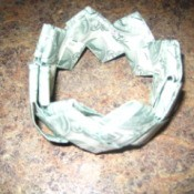 Folded money bracelet.