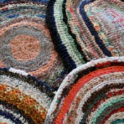 Photo of round rag rugs.