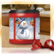 decorated coffee container