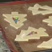 Colorful Christmas Tree Cookies Read to be Baked
