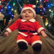 Baby Ethan Dressed as Santa