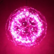 Photo of a pink sparkle ball Christmas Decoration.