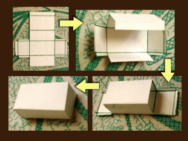 Steps for folding a Box
