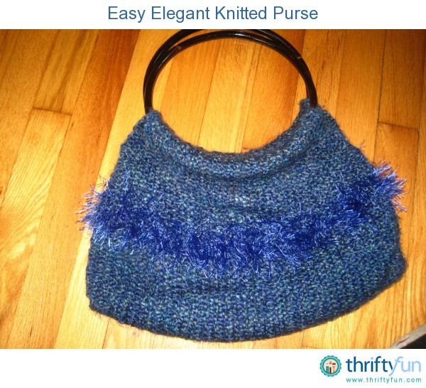 Knitting Pattern Bag Easy : Easy Elegant Knitted Purse ThriftyFun