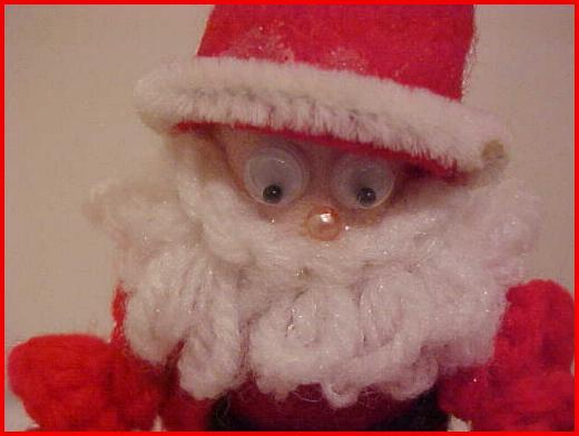 Closeup of Santa face.