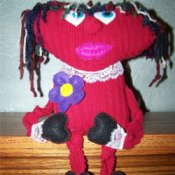 Finished Mopheard doll square version of photo.
