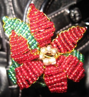Victorian Beaded Poinsettia