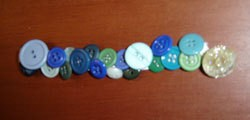 Photo of a button bracelet.