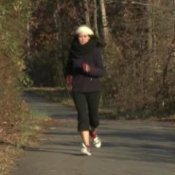 Getting Into Winter Workout Mode, Woman Jogging