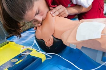 First Aid Tips, Woman Practicing CPR