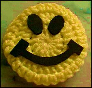 Smiley Face Door Knob Cover - Finished smiley face.