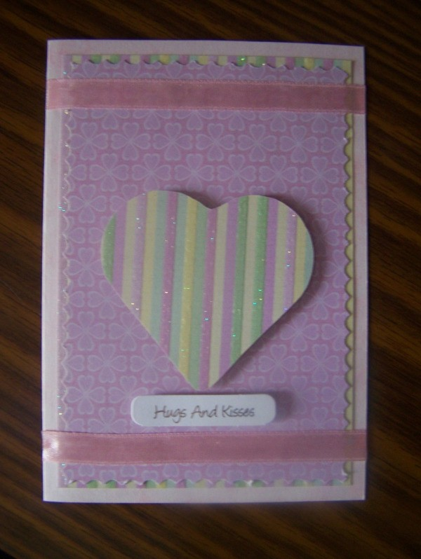 Hugs and Kisses Valentines Card Step 7