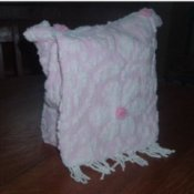Crafts Made from Recycled Bedspreads, Shoulder bag made from recycled chenille bedspread.