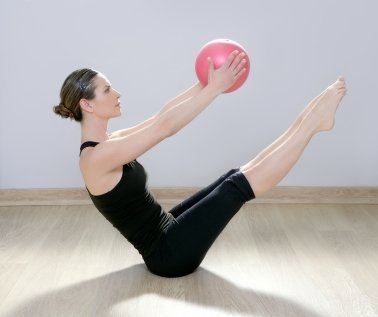 Learning Pilates, Woman Doing Pilates