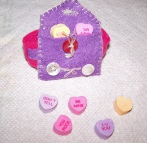 Pink and Purple Valentine wrist band