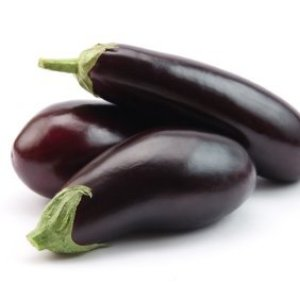 Freezing Eggplants, Eggplants on White Background