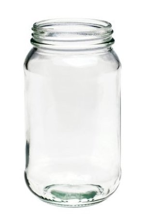 Reusing Glass Jars, Glass Jar on White Background