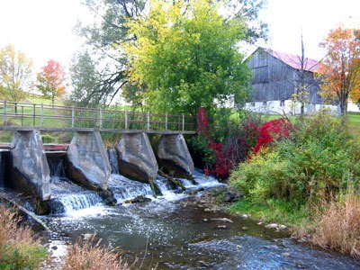 Mild May Dam in the Fall