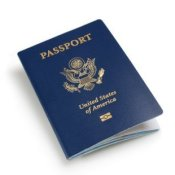 Applying for a Passport, US Passport on White Background