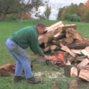 How to Cut Firewood, Man Chopping Firewood