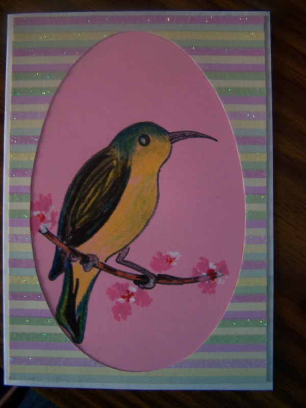 Finished spring card.
