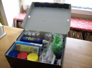 """Let's Make Something Together"" Craft Box full of craft supplies"