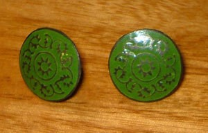 Vintage Button Earrings 3
