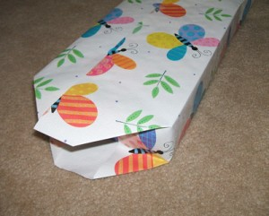 Recycled Box Gift Bag Step 1