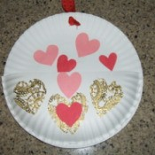 Paper Plate Valentine Card Holder - Finished Valentine card holder.
