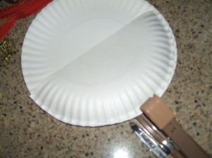 Stapling the half plate to the whole one.