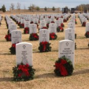 Cemetery Christmas Wreaths (Central Texas Veteran's Cemetery, Killeen, Texas)
