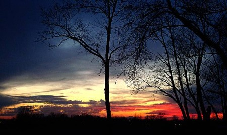 Scenery: Brilliant Sunset (Muncie, IN)