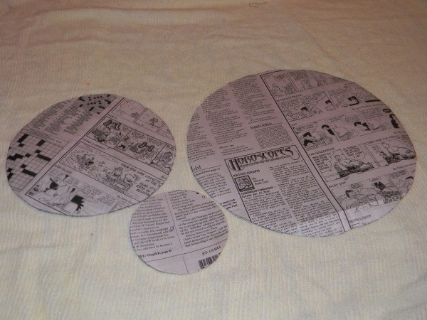 Easter Chick - Newspaper patterns.